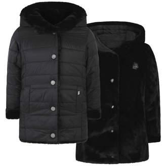 Karl Lagerfeld LagerfeldGirls Black Reversible Coat