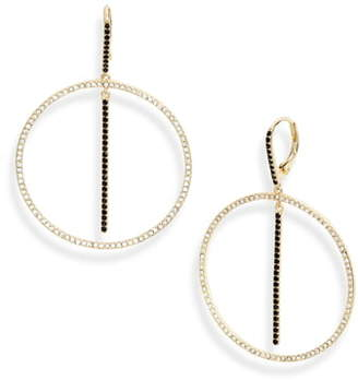 Nordstrom Pave Stone Circle Bar Drop Earrings