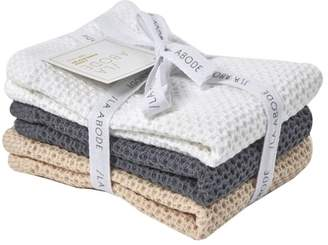 3 Piece Combed Cotton Dish Cloth Set