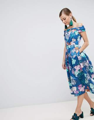 Bardot Closet London Floral Midi Dress