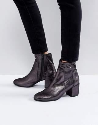 Miss KG Metallic Kitten heel Sock Boot