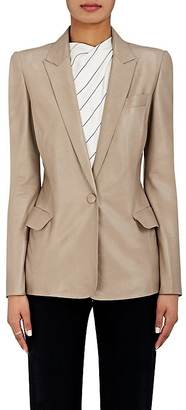 Giorgio Armani Women's Lambskin One-Button Jacket $6,895 thestylecure.com
