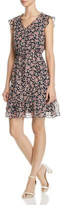 Aqua Floral Print Drawstring Dress - 100% Exclusive