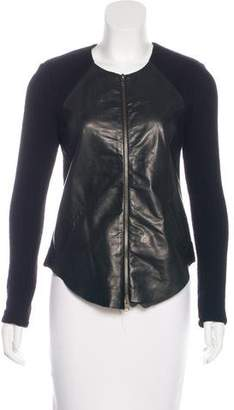 Raquel Allegra Leather-Paneled Jacket