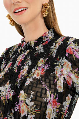 Rebecca Taylor Bouquet Smock Dress