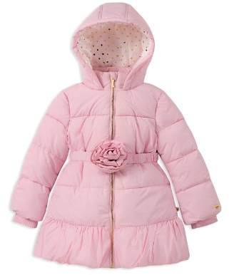 Kate Spade Girls' Rosette Puffer Jacket - Big Kid