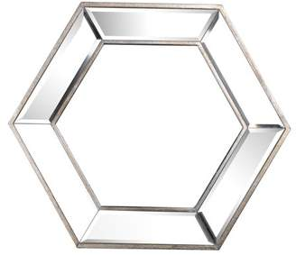 A&B Home Decorative Hexagon Wall Mirror