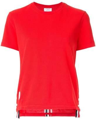 Thom Browne grosgrain trim piqué T-shirt