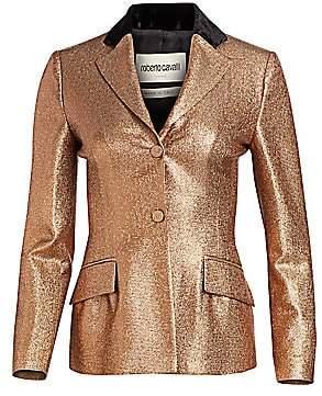 Roberto Cavalli Women's Lurex Fitted Blazer