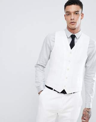 Devils Advocate Devil's Advocate Wedding Skinny Fit Textured Vest