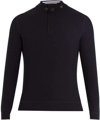 Ermenegildo Zegna High-neck half-zip wool sweater