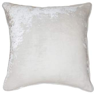 Square Feathers Velvet Accent Pillow