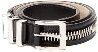 Balmain - Triple Loop Leather Belt - Mens - Black