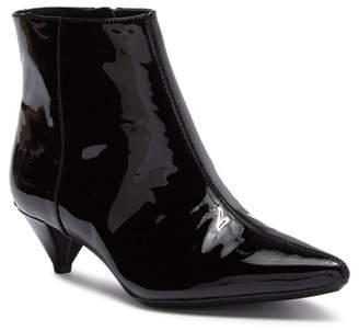 Calvin Klein Larissa Patent Leather Kitten Heel Bootie