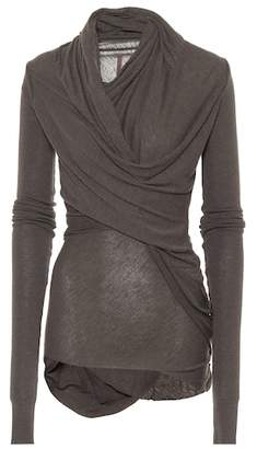 Rick Owens Lilies draped knit top