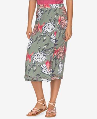Roxy Juniors' Midi Wrap Skirt