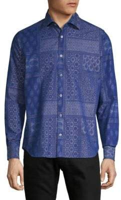 Saks Fifth Avenue Embroidered Chambray Shirt