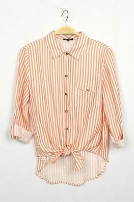 Michel Coral Stripe Buttondown