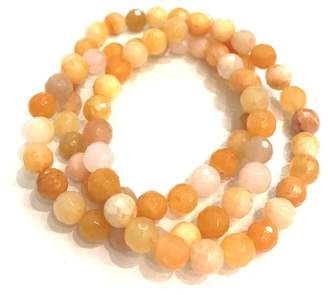 Charlene K Stackable Golden Jade Beaded Bracelets - Set of 3