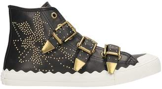 Chloé Kyle Studded Hightop Leather Sneaker