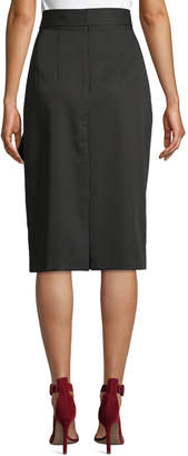 Tahari ASL Belted Draped-Front Skirt