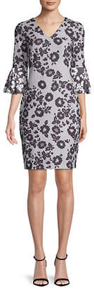 DKNY Floral Lace Print Sheath Dress