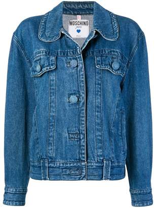 Moschino Pre-Owned round-collar denim jacket