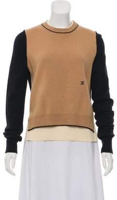 Celine Layered Lightweight Wool Sweater