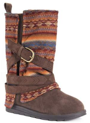 Muk Luks Nikki Removable Knit Cuff Buckle Boot