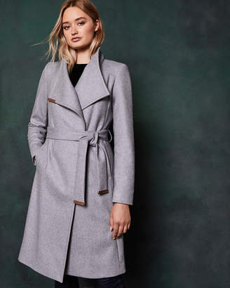 Ted Baker SANDRA Midi wool wrap coat