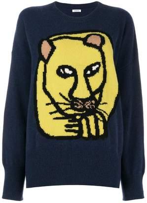 P.A.R.O.S.H. lion intarsia sweater