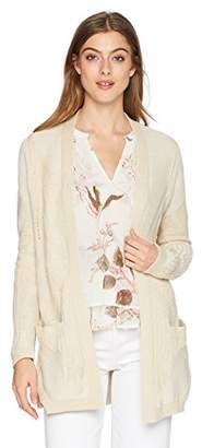 Lucky Brand Women's Patterned Cardigan Sweater