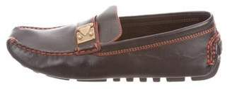 Louis Vuitton Leather Square-Toe Loafers