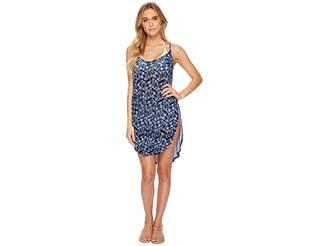 Lucky Brand Nomad Ikat Tulip Side Dress Cover-Up Women's Swimwear