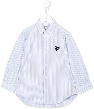 Comme des Garcons Kids striped shirt