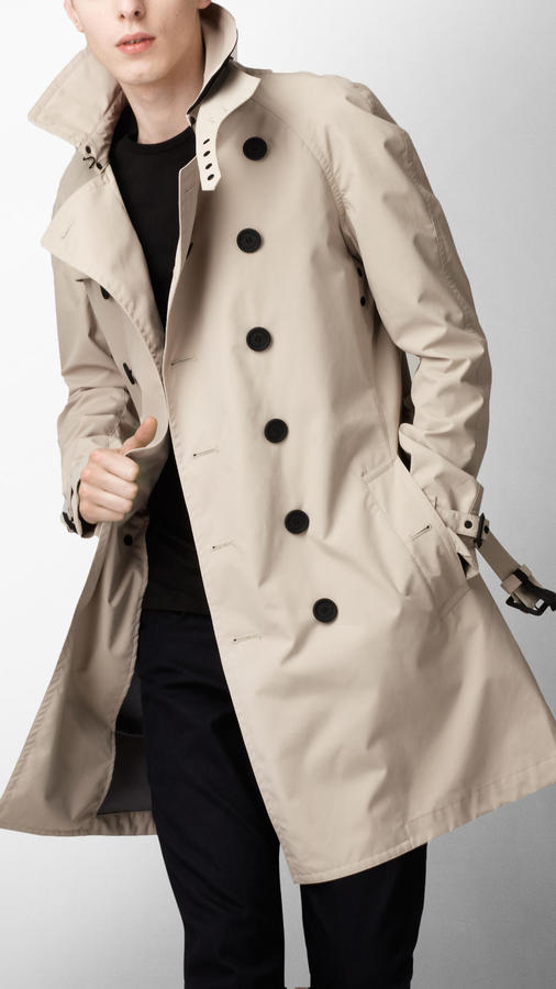 Sport Collection Mid-Length Nylon Trench Coat