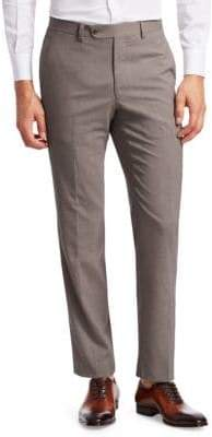 Saks Fifth Avenue COLLECTION Slub Weave Stretch Wool Trousers
