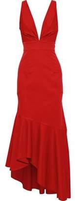 Sachin + Babi Asymmetric Faille Gown