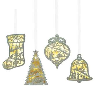 MIDWEST-CBK LED Lighted Christmas Ornaments - 4 Piece Set