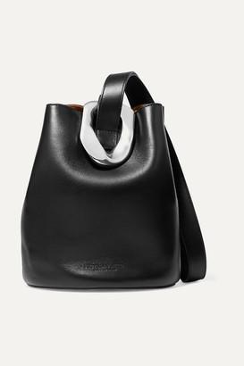 Bottega Veneta Drop Small Embellished Leather Bucket Bag - Black