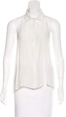 Rory Beca Embellished Silk Top