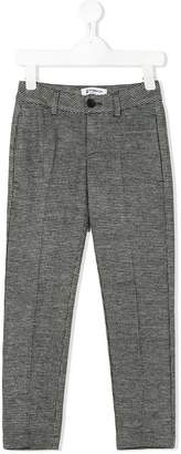 Dondup Kids micro houndstooth pattern trousers