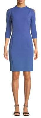 Lafayette 148 New York Cold-Shoulder Sheath Dress