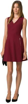 Le Château Women's Knit Fit & Flare Dress,L