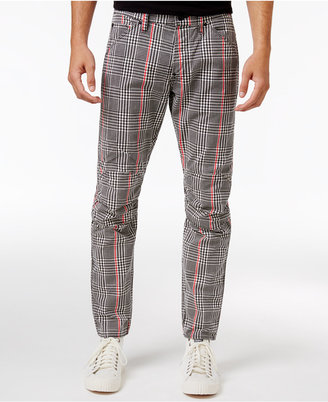 G-Star Raw Men's Slim-Fit Elwood X25 Prince of Wales Check Print Pharrell Jeans $170 thestylecure.com