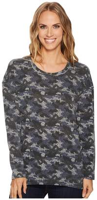 Tribal Drop Shoulder High-Low Printed Top Women's Clothing