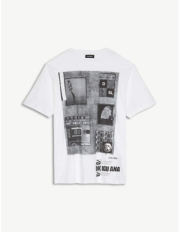 Guitar-graphic cotton T-shirt 4-16 years