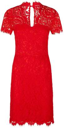SET Fitted Lace V-Neck Dress