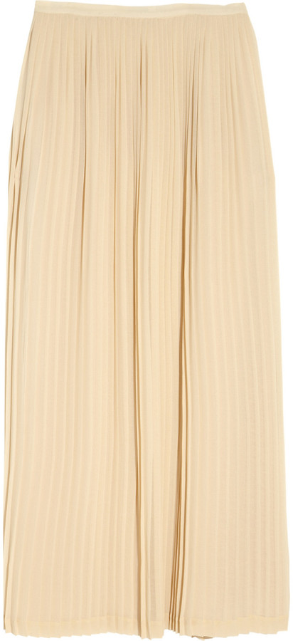 Sandro Jarod pleated chiffon maxi skirt