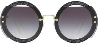 Miu Miu (ミュウミュウ) - Miu Miu Eyewear ラウンドフレーム サングラス